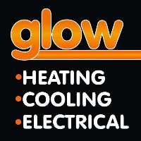 Glow Heating Cooling Electrical Logo
