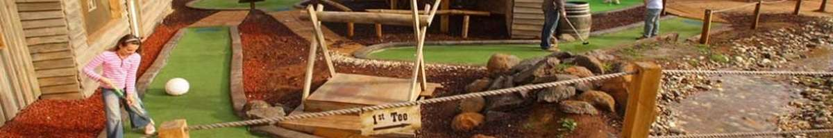 Gold Rush Mini Golf Banner