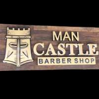 Man Castle Barber Shop Logo