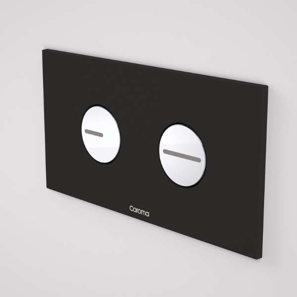 Caroma Invisi Series II® Round Dual Flush Plate & Buttons Neutrals (Plastic)