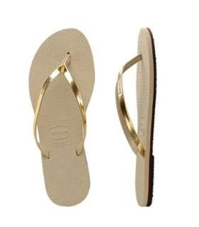 HAVAIANAS YOU WOMENS METALLIC SAND GREY/LIGHT GOLDEN THONGS