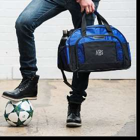 Blue Personalised Sports Bag