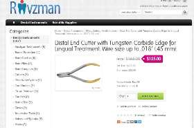 Buy Distal End Cutter with Tungsten Carbide Edge for Lingual Treatment. Wire size up to .018