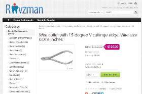 Buy Wire cutter with 15 degree V cuttinge edge. Wire size. 0.016 inches